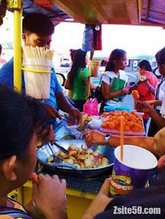 Street Foods: A Filipino Habit Acquired by Caviteños  - One of the inexpensive foods that captured the taste of the Caviteños. It is mostly popular for children these days because it is really affordable and it clearly satisfy their hunger and crave for food. It is also applicable for college students like us.