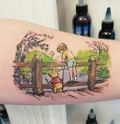 Uplifting Winnie the Pooh Tattoos Bear Tattoos, Cute Tattoos, Body Art Tattoos, Awesome Tattoos, Winnie The Pooh Honey, Winnie The Pooh Friends, Piglet Tattoo, Winnie The Pooh Tattoos, Disney Tattoos Small