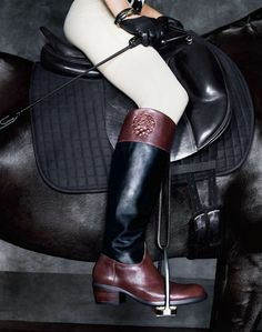 I love my Vince Camuto riding boots. I have them in opposite, black on the outside and brown on the inside :)