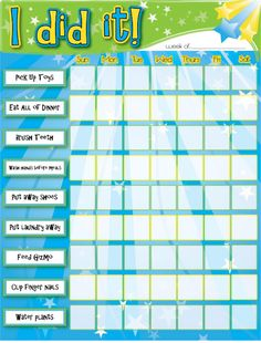 Customize your own chore chart for your kids. Links to the word file.