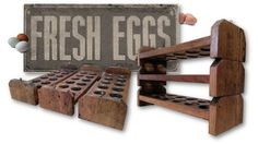 Reclaimed Wood Egg Holder Stackable Tray by AlleyCatDesignSt Teds Woodworking, Woodworking Projects, Egg Storage, Egg Holder, Diy Wood Projects, Wooden Diy, Chicken Houses, Chicken Coops, Rustic