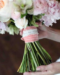 The A to Z of Planning a Wedding: A Glossary to Help You Master the Lingo | Martha Stewart Weddings - The ribbon, fabric, or handkerchief that wraps around the stems of a bouquet.