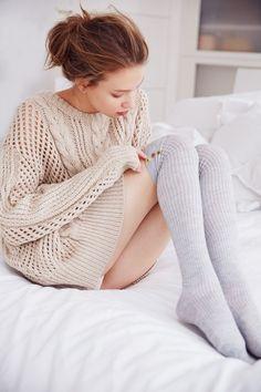 Socks and sweater.