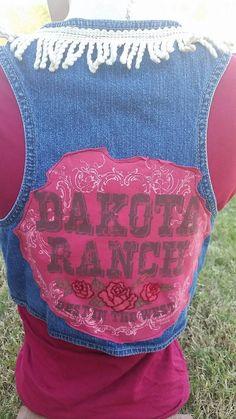 Check out this item in my Etsy shop https://www.etsy.com/listing/210442066/dakota-ranch-denim-vest