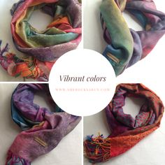Presenting the sherocksabun Thai Pashmina collection! A beautiful collection of infinty scarves with zippered pockets. Clothing Items, Vibrant Colors, Rocks, Fashion Outfits, My Style, Clothes, Collection, Outfits, Fashion Suits