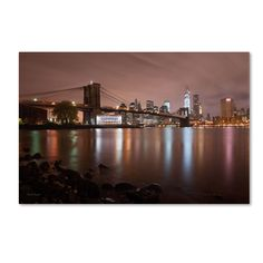 Jane's Carousel, Brooklyn Bridge Color by David Ayash Photographic Print on Wrapped Canvas