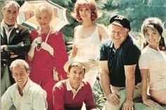 Gilligan's Island was an American TV sitcom with Bob Denver, Alan Hale, Jr, Jim Backus, Natalie Schafer, Tina Louise, Russell Johnson & Dawn Wells. It aired for 3 seasons on the CBS network from Sep 26 1964, to Sep 4 1967.  The show followed the comic adventures of seven castaways as they attempted to survive the island on which they had been shipwrecked. Gilligan's Island ran for a total of 98 episodes.