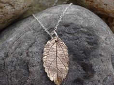 Real leaf pendant ~ unique necklace for Autumn, outdoor nature lover, birthday, one of a kind jewellery gift, by silverwindsjewellery. Explore more products on http://silverwindsjewellery.etsy.com