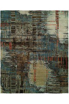 Natori Dynasty- Abstract Plaid Rug