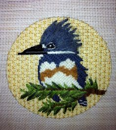 Another in the Birds of America series available at Creative Stitches and Gifts in Dallas... incredible stitch guides by Patricia Sone, threads and the canvases all ready for you.  8 birds in the series.  Call them to order yours today - exclusive and very limited quantities!  214-361-2610.
