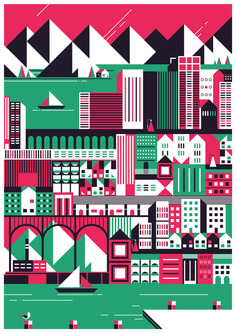 buildings cities - print by Studio Kars + Boom made in Netherlands on CROWDYHOUSE