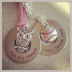 Metal stamping on washers- Love the breast cancer awareness quotes! Hand Stamped Metal, Hand Stamped Jewelry, Silverware Jewelry, Metal Jewelry, Jewelry Crafts, Handmade Jewelry, Baseball Jewelry, Metal Crafts, Metal Stamping