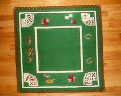 Vintage Needlepoint Card Table Cloth Cover Bridge Horse Racing Pe Point Ebay Imahler