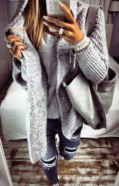 How to wear fall fashion outfits with casual style trends Cozy Winter Fashion, Fall Winter Outfits, Autumn Fashion, Winter Style, Spring Fashion, Mode Outfits, Stylish Outfits, Fashion Outfits, Fashion Shoes