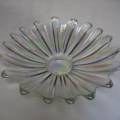 Clear Iridescent Federal Glass Bowl.