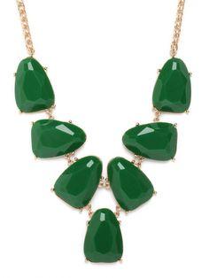 #BaubleBar Emerald Gem Bib is so gorgeous