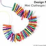 DIY Jewelry: Mini Clothespin Necklace