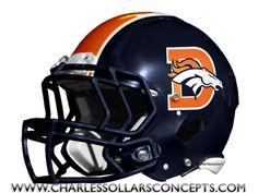 Charles Sollars Concepts @Charles Sollars @Charles Sollars http://www.charlessollarsconcepts.com/denver-broncos-navy-helmet-concepts/ #broncos #denver #nike #nfl