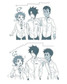 The promised Neverland (Yakusoku no neverland) Manga Anime, Fanarts Anime, Anime Demon, Anime Lineart, Live Action, Desenhos Love, Manhwa, Future Boy, Anime Crossover