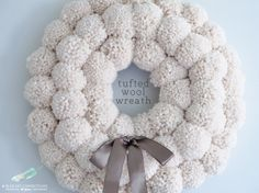 Blue Sky Confections: My version of the Anthropologie Tufted Wool Wreath