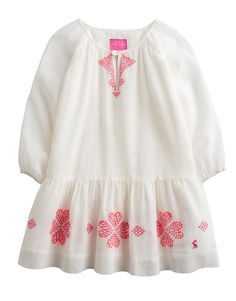 Joules Classic Summer Jnrjoni Girls Neon Embroidery Dress in Cream in Clothes, Shoes & Accessories, Kids' Clothes, Shoes & Accs., Girls' Clothing (2-16 Years)   eBay