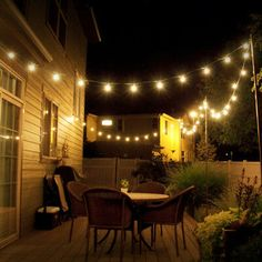 Cheap Outdoor String Patio Lights - Pin On Make Patio String Lights Yard Envy 32 Backyard Lighting Ideas How To Hang Outdoor String Lights Best Outdoor String Lights For Patios And Gazeb. Hanging Patio Lights, Backyard String Lights, Backyard Lighting, Patio Lighting, Lighting Ideas, String Lighting, Diy Hanging, Landscape Lighting, Cafe Lighting