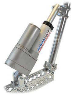 Linear Servo with channel Mechanical Art, Mechanical Design, Routeur Cnc, Small Tractors, Cnc Parts, Linear Actuator, Diy Robot, Diy Cnc, Extruded Aluminum