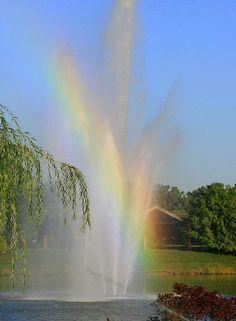 Rainbow fountains