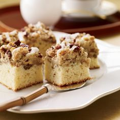 This moist cake, topped by a generous layer of cardamom-spiced, pecan-dotted crumbs, is a fabulous gift. F&W's Kate Heddings brought one to a holi...