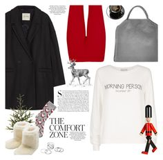 """""""christmas morning"""" by jesuisunlapin ❤ liked on Polyvore featuring STELLA McCARTNEY, American Vintage, Kershaw, WearAll, Oasis, M&Co, Wildfox, Burberry, Christmas and sweaters"""