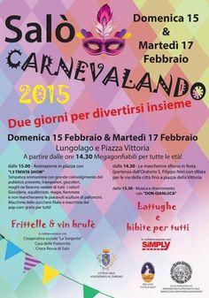 Due nuovi appuntamenti per il #Carnevale 2015 a Salò domenica 15 e martedì 17 febbraio @gardaconcierge