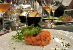 tartare di salmone con citronette di agrumi e aneto