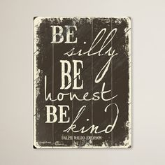 Be Silly Wall Art