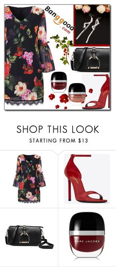 """Flowers Dress by Banggood 3/20"" by esma178 ❤ liked on Polyvore featuring Yves Saint Laurent and Marc Jacobs"