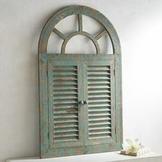 Window Wall Decor white antiqued arch wall decor | spanish style, wooden frames and