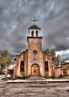 St. Joseph's Church Cerrillos, NM.  Via Meanwhile in New Mexico on Facebook
