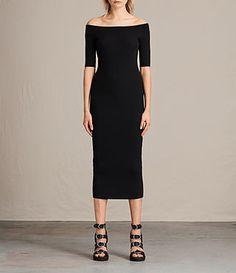 Womens Lavine Dress (Black) - product_image_alt_text_1