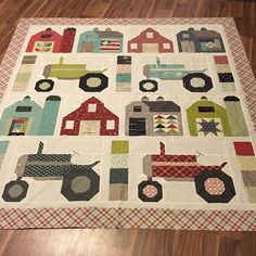 barn quilt blocks with barn quilts from farm girl vintage patterns Colchas Quilt, Quilt Blocks, Quilt Top, Baby Boy Quilts, Girls Quilts, Children's Quilts, Farm Quilt Patterns, Block Patterns, Quilt Modernen