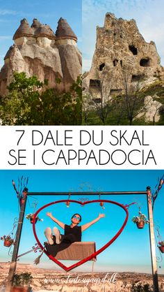7 dale du skal se i Cappadocia - Rejsebloggen TeaTougaard.dk Pamukkale, Cappadocia, Mount Rushmore, Mountains, Nature, Movie Posters, Movies, Travel, Naturaleza