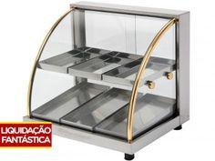 Vitrine Estufa Marchesoni Ouro 2 Portas Inox - Dupla 6 Bandejas