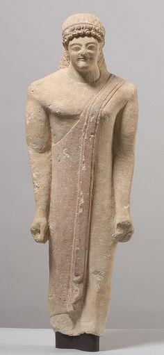 Votivstatuette eines Jünglings; Zyprisch, Eisenzeit, archaisch, 520 - 480 v. Chr. | Kunsthistorisches Museum Wien