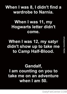 I am counting on you Gandalf. I still believe my satyr is coming though!