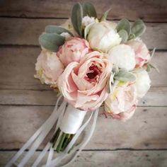 Bouquet Peonie Bianche e Rosa Antico