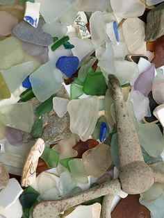 Sea glass collected