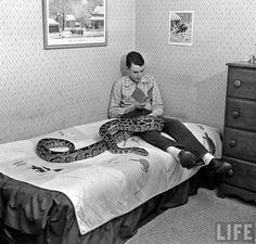EEK!  He sure has a big snake!