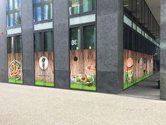 Kreation und Umsetzung, Sichtschutz für Restaurant Gärtnerei & Joe and the Juice