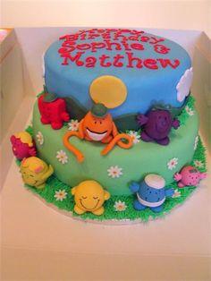 Mr Men Birthday Cake Birthday Cakes Pinterest Men Birthday - Mr tickle birthday cake