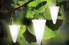 Hanging Solar Garden Light - Cornet Shaped Solar Lights Solar Tree Lighting - Set of Three 3 Lights by BrittaProducts new 5995 4995 3 used new from the Most Wished For in Outdoor Dcor list for authoritative informat Solar Patio Lights, Solar Garden Lanterns, Path Lights, Garden Trees, Lawn And Garden, Garden Path, Hanging Tree, Hanging Lights, Outdoor Garden Lighting