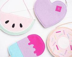 45 ideas for sewing bags diy handbags tuto sac Diy Bags No Sew, Kids Purse, Diy Bags Purses, Unique Handbags, Felt Purse, Diy Handbag, Girls Bags, Cute Bags, Baby Sewing