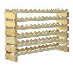 HomCom 72 Bottle Solid Wood Wine Storage Display Rack ** Check this awesome product by going to the link at the image.